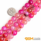 Plum Dragon Veins Agate Gemstone Round Beads For Jewelry Making 15 6mm 8mm 10mm