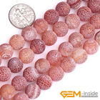 Red Dream Fire Dragon Veins Agate Round Beads For Jewelry Making 15 8mm 10mm