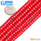 Red Coral Gemstone Column Heishi Beads For Jewelry Making Free Shipping 15