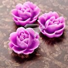Brandnew 21x19mm Cheap Assorted Resin Flowers Cabochons Flat Back Wholesale Hot
