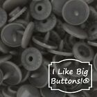 B39 Gray Kam Snaps For Cloth Diapersbibscraftsplastic Snap Buttons