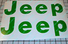 Replacment Letter Decal For A Jeep Cj Yj Wrangler Sticker 1976-1995  2 Decals