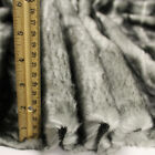 Grey Black Grooved Mink Lux Polar Faux Fur Fabric By The Yard - Style 5015