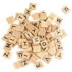 100 Pcsbag Wooden Alphabet Scrabble Tiles Letters Numbers For Board Crafts Diy