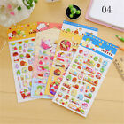 2sheets 3d Puffy Bubble Sticker Toys Children Car Animal Fruit Letter Stickers