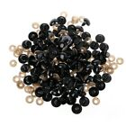 100pcsbag Diy Doll Toy Eyes Black Plastic Safety Eyes Puppets Doll With Washers