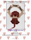 Dachshund Dog-wipe Our Paws Wreath- Wall Hanging- Plastic Canvas Pattern Or Kit