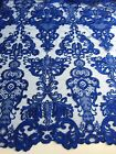 14 Colors Vivian Polyester Embroidery Sequins On Mesh Lace Fabric By The Yard