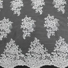 21 Colors Brianna Polyester Floral Embroidery With Sequins On Mesh Lace Fabric