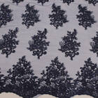 23 Colors Brianna Polyester Floral Embroidery With Sequins On Mesh Lace Fabric