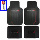 Dodge Car Truck Front Back All Weather Heavy Duty Rubber Floor Mats Keychain
