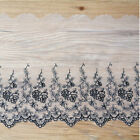 1 Yard Long 20cm Wide Delicate Embroidered Flower Tulle Lace Trim Sewing Craft