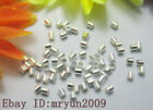 Free Lot Jewelry Making Repair Crimps Silver Plated Tube Finding End Beads 1.5mm