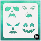Spooky Face Set 2 - Durable And Reusable Stencil For Diy Painting