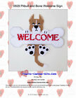 Pitbull Dog And Bone Welcome Sign- Plastic Canvas Pattern Or Kit