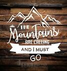 The Mountains Are Calling And I Must Go Sticker Decal-car Sticker Laptop Decal