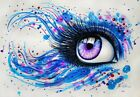 Crush Eyes Diy Paint By Number Acrylic Oil Painting On Linen Colorful Kitty Kids