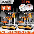 Ball End Hex Key Allen Wrench Set T-handle Long Arm Sae Metric Storage Stand