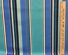 Fabric Blue Stripe Aqua Green Turquoise Black White Stripes Upholstery Woven