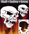 Skull 17 Airbrush Stencil Large Small Or Double Set Spray Vision Template