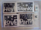 Stampin Up Sets Alphabets Words Phrases - Choose 1 Or More Free Shipping Cards