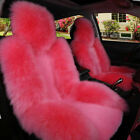 1 Pc Genuine Sheepskin Car Front Seat Covers Real Cushion Fur Fits Most Cars