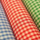 14 Check Corded Gingham Dress Fabric Aprons Tablecloth Schools 44wide M30