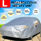 Large 190t Full Car Cover Waterproof Outdoor Dust Scratch Rain Uv Sun Protection
