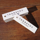100x Thank You Handmade Letter Kraft Paper Label Message Card Gift Hanging Tags