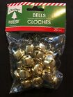Christmas Metal Jingle Bells Silver Gold 20 Pack .78 20mm Craft New
