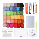 50 Colors Wool Soft Fibre Roving Set Needle Felting Kit Hand Craft Spinning Diy