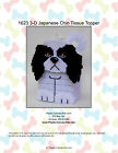 Japanese Chin Dog Tissue Topper-christmas-plastic Canvas Pattern Or Kit