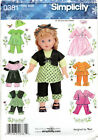 Choice Simplicity Doll Clothes For 18 Dolls Craft Sewing Patterns