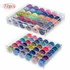 25-72 Sewing Machine Bobbins Thread Spools Case With Threads For Sewing Machine