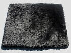 Sheepskin Shearling Leather Hide Black Curly Nappy Hair Wmatching Suede Back