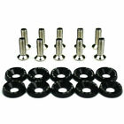 Us 10pcs M6 Car Engine Bumper Fender Washer License Plate Bolt Screws Kit