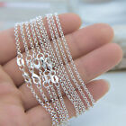 Bulk 10pclot 1.2mm Sterling Silver Curb O Trace Necklace Chain Lobster Clasper