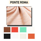 Solid Ponte Roma Knit Fabric