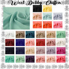 75 Colors Solid Wool Dobby Chiffon Fabric By The Yard