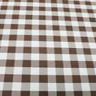 Big Checkered Gingham Poplin Woven Fabric