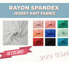 90 Solid Heavyweight Rayon Spandex Jersey Knit Fabric 200 Gsm - Style 0406-