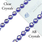 10 Yard Ss10 Ab Clear Crystal Rhinestone Banding Trim Chain Roll Decor Color