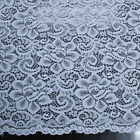 Scalloped Edge Floral Lace Fabric By The Yard - Style 704