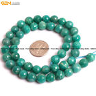 Faceted Natural Gemstone Russian Green Amazonite Beads For Jewelry Making 15