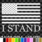I Stand American Flag Vinyl Decal Car Truck Sticker Bumper Football Protest