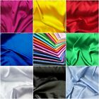 Stretch Satin Fabric Poly Spandex Blend Bridal Party 60 W Sold Bty Many Colors
