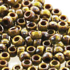 70 3.6mm Large 1.6mm Hole Matubo Pressed Glass Czech Seed Beads