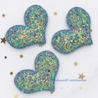 12pcs Padded Heart Appliques For Bows Sew Iron On Patches Clothes Craft Transfer