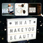 A4 Cinematic Light Up Sign Box Cinema Led Letter Lamp Home Party Decor Wedding