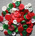 100 Small Color Mix Of Hand Dyed Buttons For Sewing Crafts Art